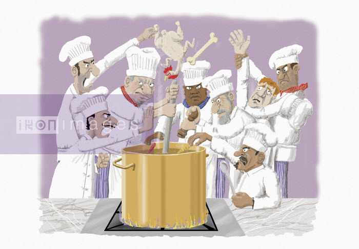 Too many cooks spoil the broth - Andrew Pinder