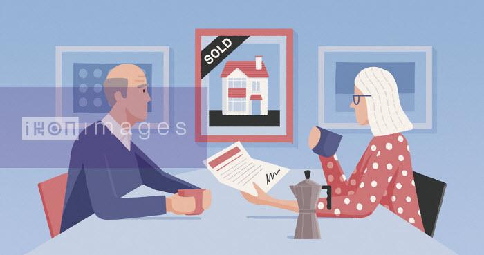 Older couple selling house - Paul Reid
