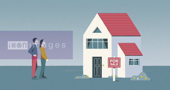 Young couple looking at house for sale - Paul Reid