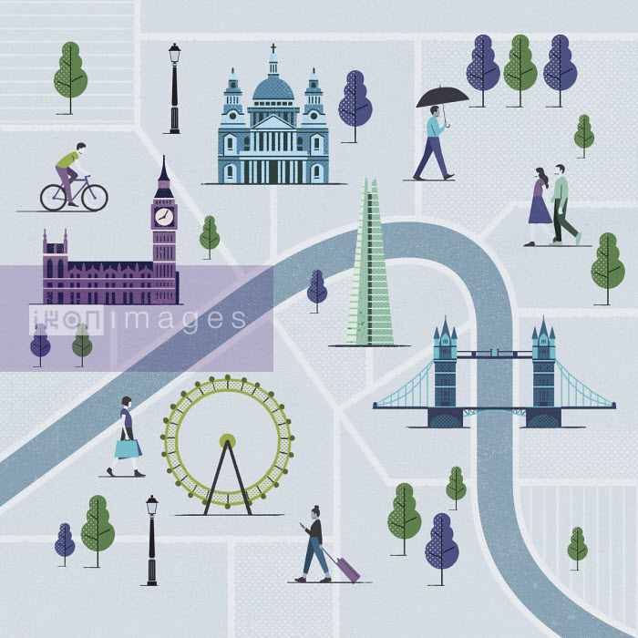Illustrated map of London - Paul Reid