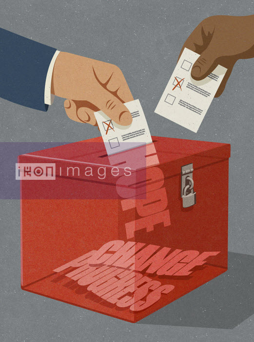 People voting for change, progress and hope - John Holcroft