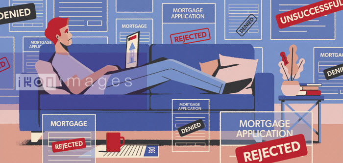 Despondent man surrounded by mortgage rejections - Paul Reid