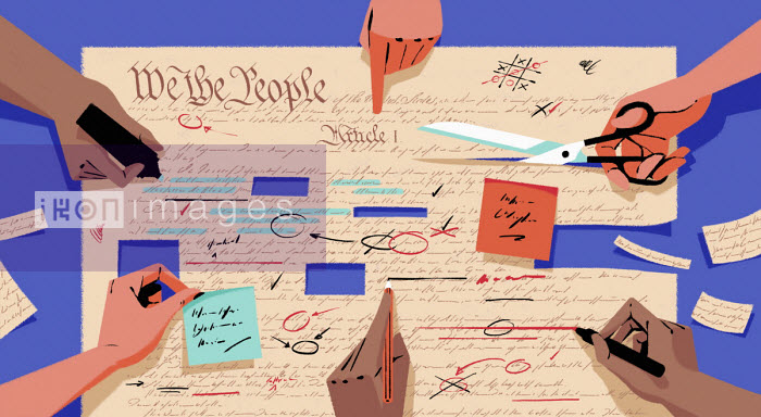 People making amendments to the United States constitution - Matt Harrison Clough