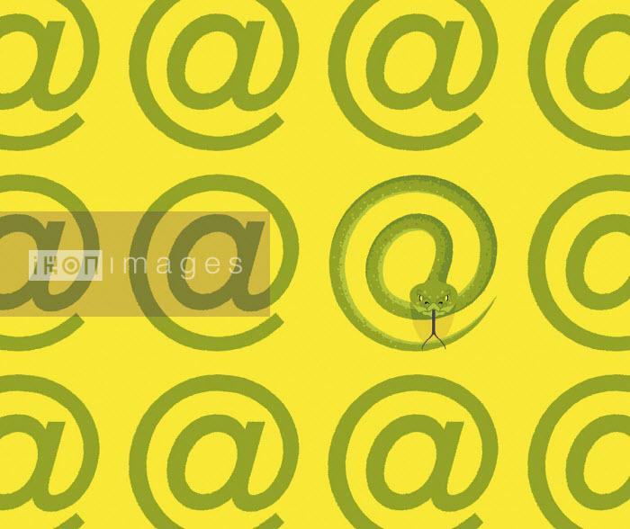 Snake forming at symbol - Matt Harrison Clough