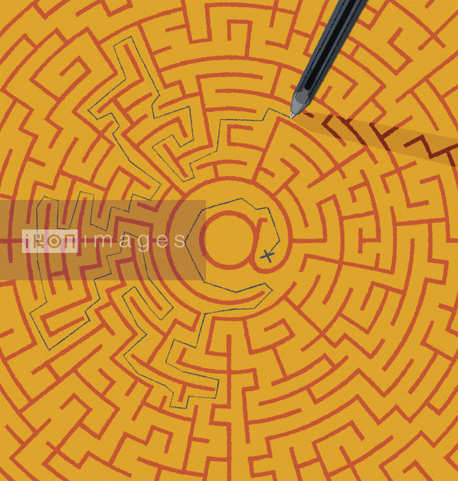 Struggle to find way out of at symbol maze - Matt Harrison Clough
