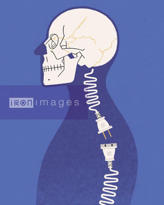 Plug and socket connection as man's spine - Matt Harrison Clough