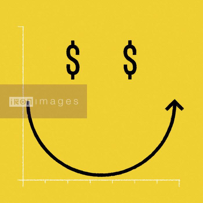 Smiley face dollar graph - Matt Harrison Clough