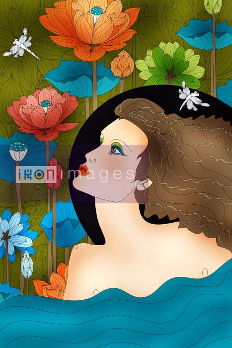 Beautiful woman as Aquarius zodiac sign - ET