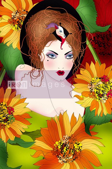 Beautiful woman as Capricorn zodiac sign - ET