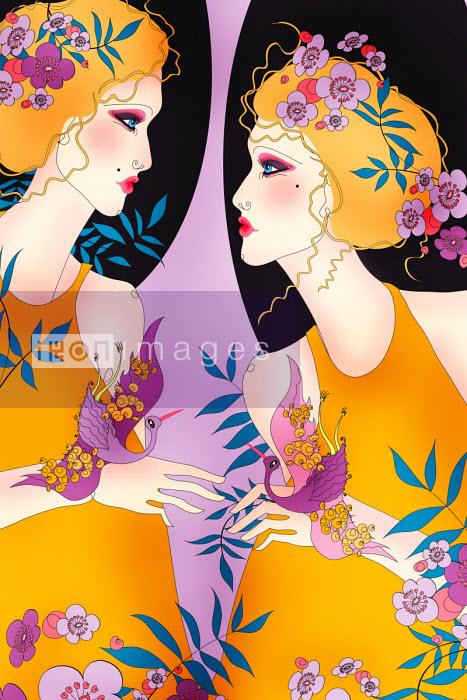 Beautiful twins as Gemini zodiac sign - ET
