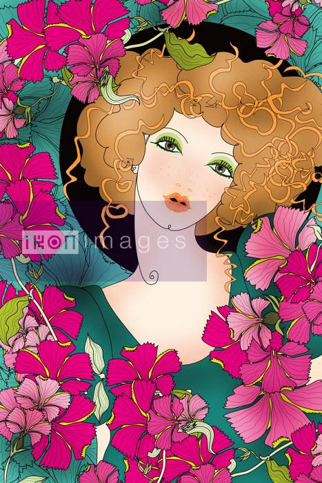 Beautiful woman as Virgo zodiac sign - ET