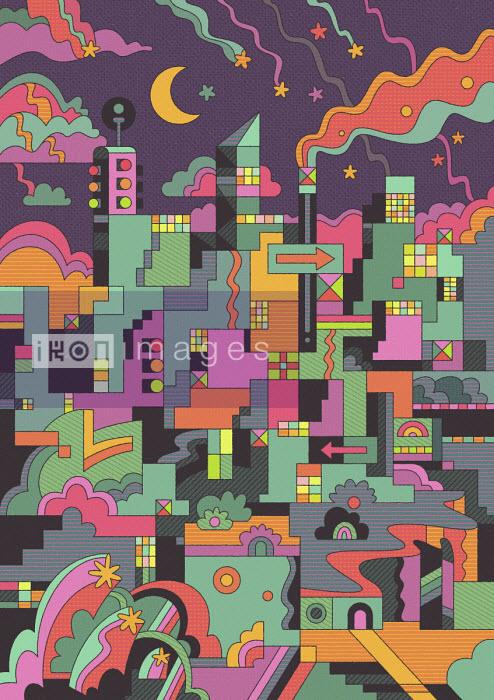 Abstract city skyline - Matt Lyon