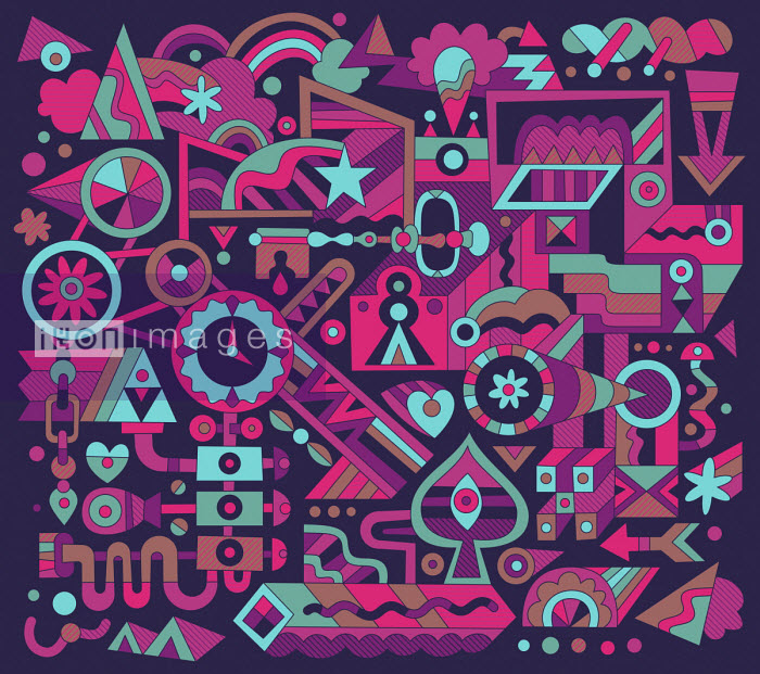 Complex abstract connections pattern - Matt Lyon