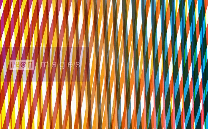 Abstract criss crossing stripe pattern - Philippe Intraligi