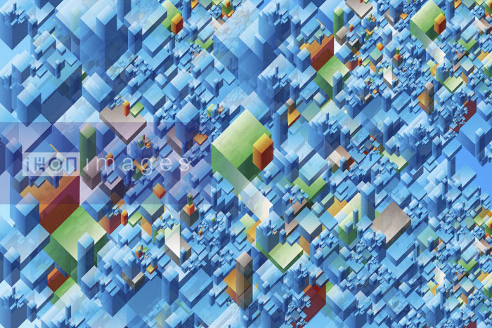 Abstract three dimensional block pattern - Philippe Intraligi