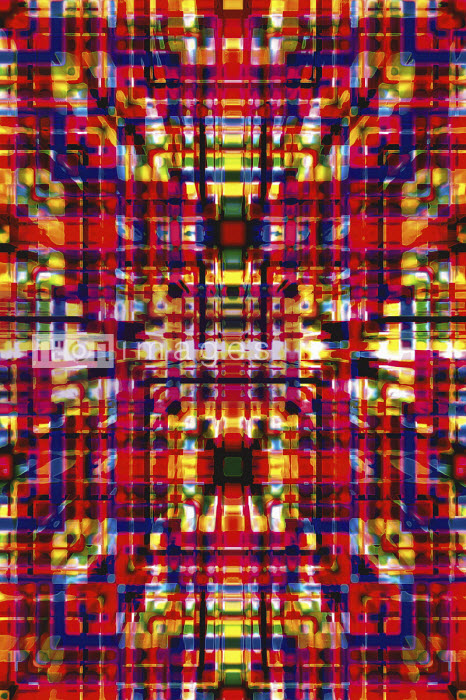 Complex abstract three dimensional grid pattern - Philippe Intraligi