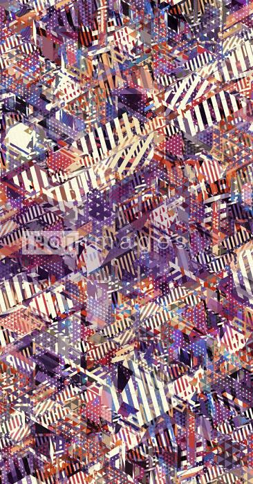 Complex abstract mosaic pattern - Philippe Intraligi