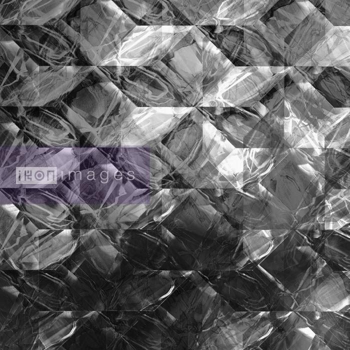 Complex light trails superimposed on monochrome geometric pattern - Philippe Intraligi