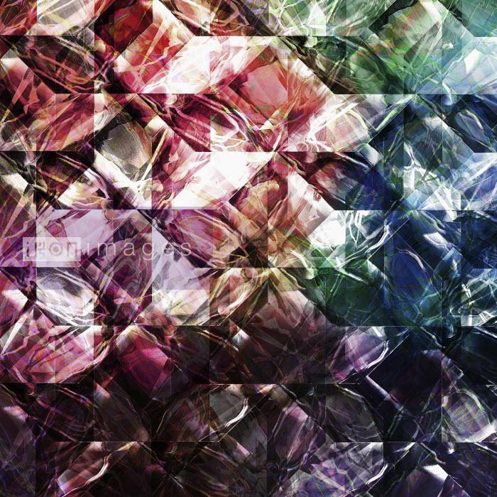 Complex light trails superimposed on geometric pattern - Philippe Intraligi