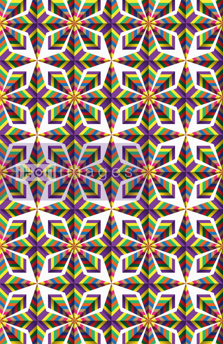 Symmetrical mosaic pattern - Philippe Intraligi