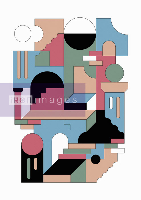 Geometric abstract doors and stairs pattern - Koivo