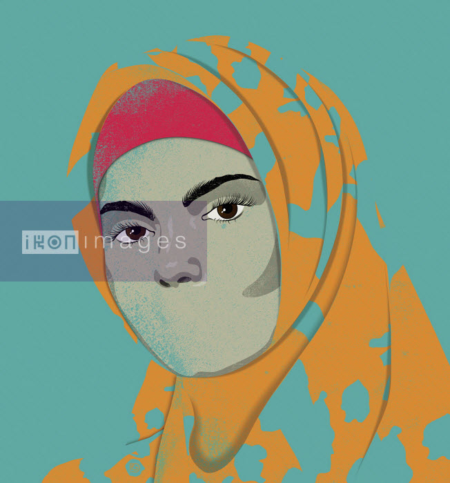Muslim woman with no mouth - Paul Garland