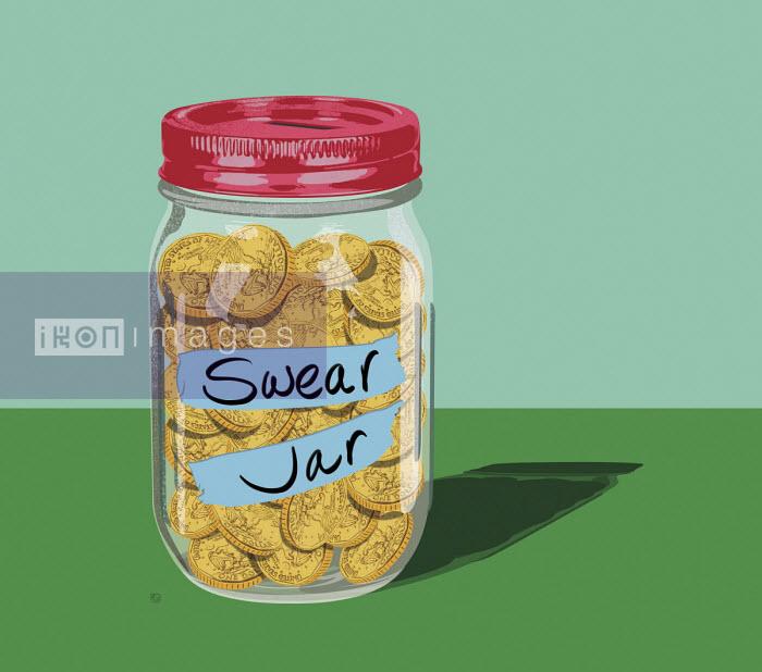 Swear jar full of coins - Paul Garland