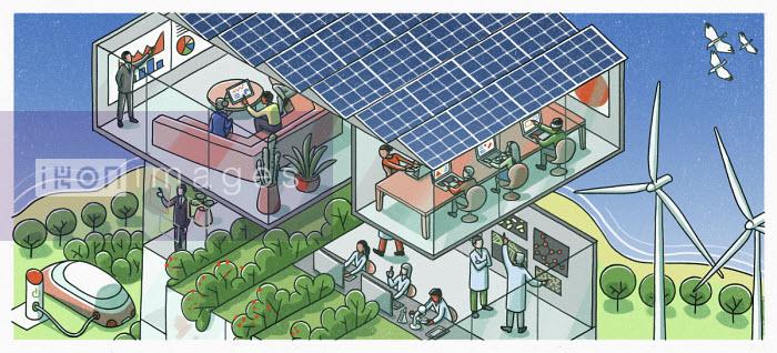 Cutaway of green business - Danae Diaz