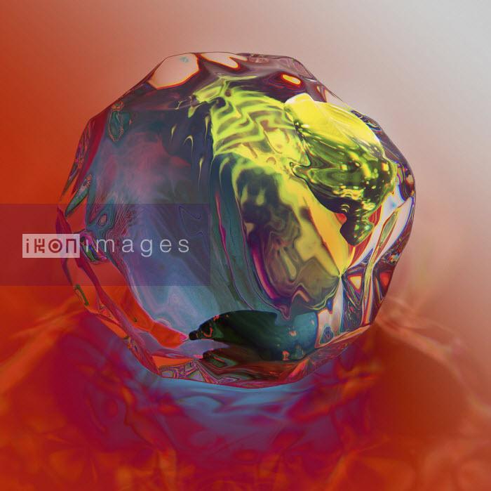 Shiny uneven glass ball - Chris Keegan
