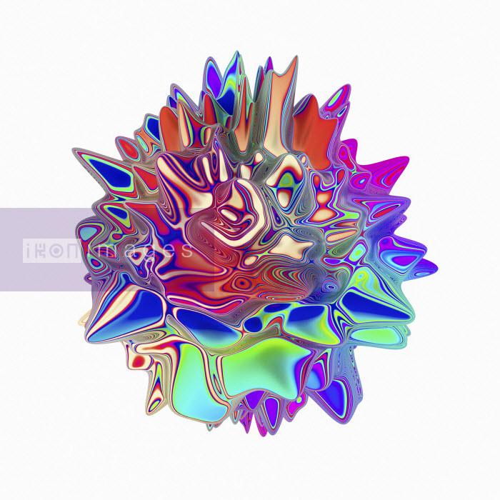 Abstract spiky multi coloured shape - Chris Keegan