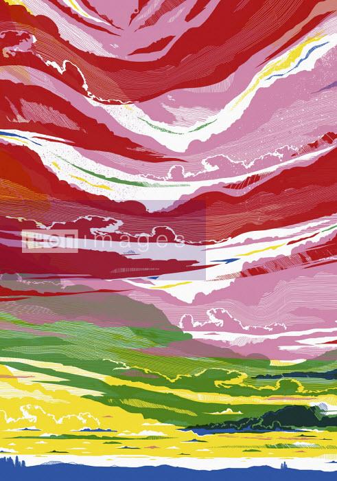 Dramatic multi coloured sky - Chris Keegan