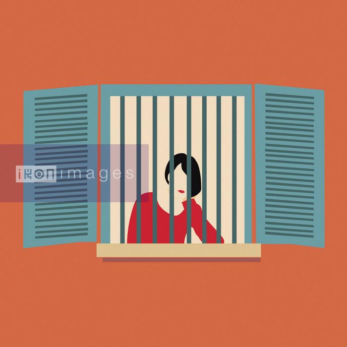 Woman trapped at home behind window bars - Annalisa Grassano