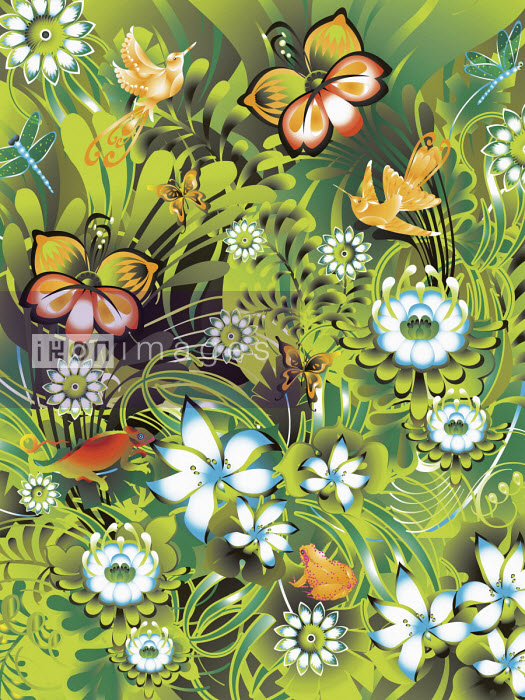 Close up of pretty flora and fauna - ET