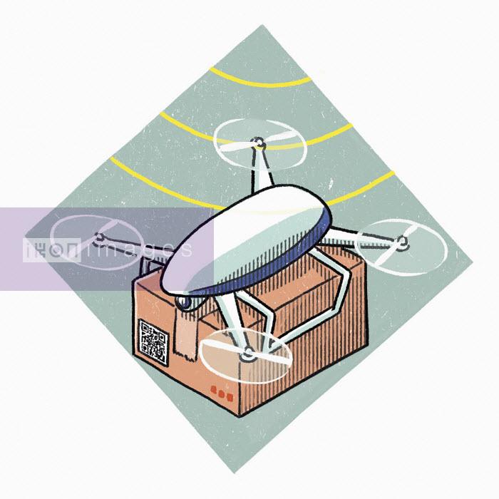 Drone delivering parcel - Danae Diaz