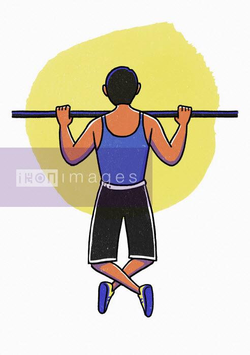 Man doing pull-ups - Danae Diaz
