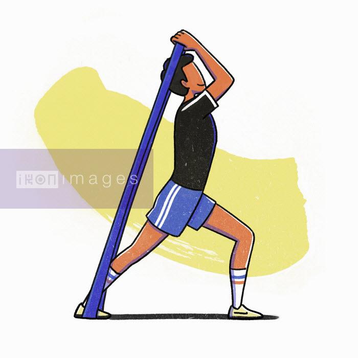Man exercising using resistance bands - Danae Diaz