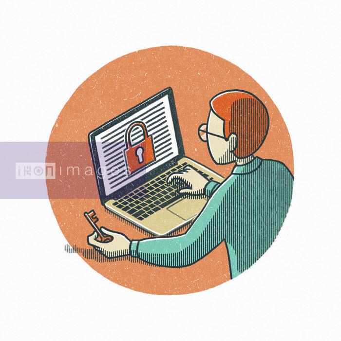 Man with key to internet security - Danae Diaz