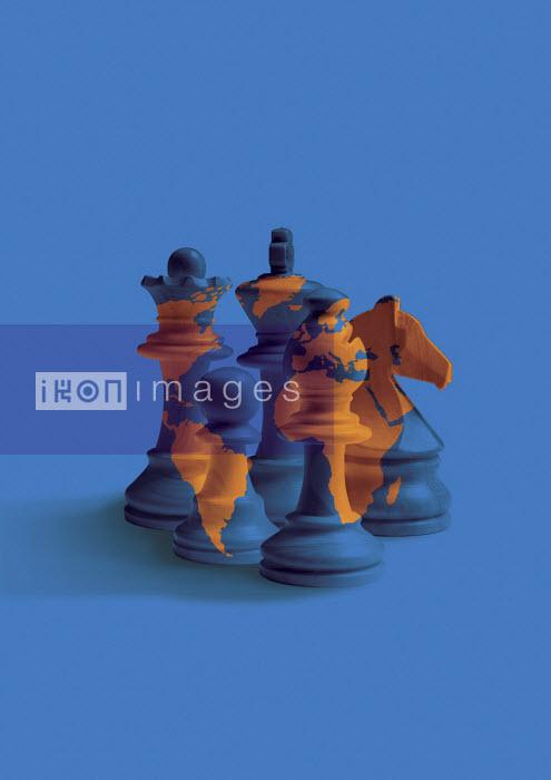Global chess pieces - Boris Séméniako